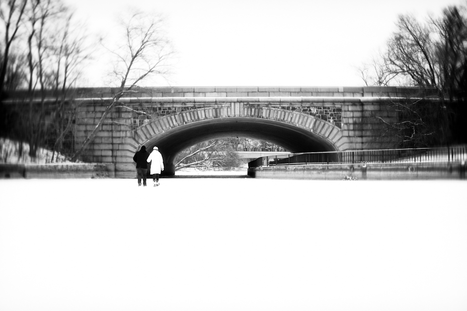 """Lake Calhoun"" , MN, Uptown, Engagement, Winter, Snow, Bridge, Ice"