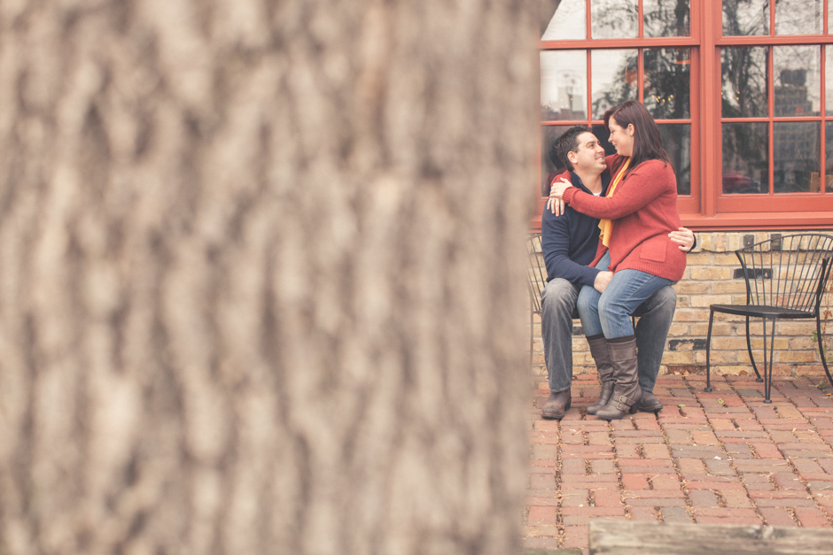"Callie, Mike, Engaged, Engagement, ""St. Anthony Main"", Minneapolis, Couple, hug"
